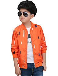 Boy Casual/Daily Print Trench Coat,Polyester All Seasons Spring Fall Long Sleeve