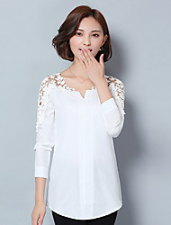 Sign hollow wild fashion strapless long-sleeved cotton shirt women large size women