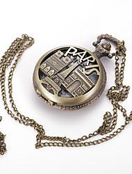 Masculino Mulheres Unissex Relógio de Bolso Colar com Relógio Quartzo Lega Banda Vintage Pendente Casual Cores Múltiplas