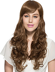 Golden Brown Wig Deep Wavy Curly Synthetic Fiber Wig Cosplay Costume Wig