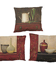 Set of 4 Retro furniture  pattern Linen Pillowcase Sofa Home Decor Cushion Cover