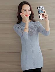 подписать новый 2017 года Корейский диких воротник кружева и длинные участки тонкий свитер основывая женский свитер