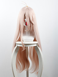 New projectile on the broken V3 red pine maple Pink micro-roll long hair high-temperature wire wig