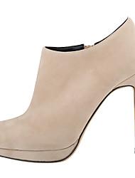 Women's Boots Winter Other Fabric Wedding Party & Evening Dress Chunky Heel Buckle Zipper Black Red Gray Dark Brown Coffee Dark Blue