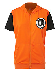 Inspirado por Dragon ball Fantasias Anime Fantasias de Cosplay Tops Cosplay / Bottoms / Mais Acessórios Patchwork Top