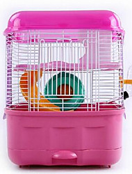 Rodents Cages Portable Metal Blue Pink