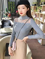 unterzeichnen neue Herbst und Winter 2016 Frauen&# 39; s heißen bohrenden dünnen langen Ärmeln stricken Shirt Pullover Design