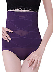 Women's Maternity Postpartum Slimming Corset Solid High Waist Elasticity Nylon Beige/Black/Purple Shaping Panties
