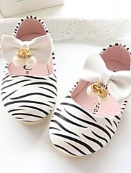 Baby-Flache Schuhe-Outddor Lässig-Lackleder-Flacher Absatz-Komfort-Weiß Rosa