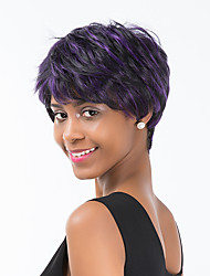 Refreshing  Fashionable  Hot Sale Mixed Color  Short Hair Synthetic Wig