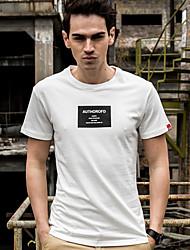Знак 2017 летом новая волна мужской хлопок с короткими рукавами футболки печати тонкий шею футболку корейский тонкий