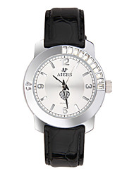 Women's Fashion Watch Quartz Genuine Leather Band Black Red
