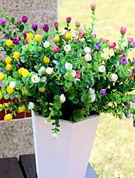 1 Une succursale Plastique Roses Fleur de Table Fleurs artificielles 30*30*34