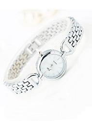Mulheres Relógio de Moda Quartzo Lega Banda Legal Casual Prata Branco Preto