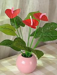 1 Branch Plastic Fiber Anthurium
