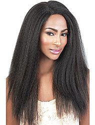 Kinky Straight Human Hair Lace Wigs Celebrity Style Lace Front Wigs For Black Women