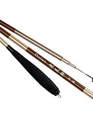 Fishing Rod Telespin Rod Carbon steel 450 M General Fishing Rod Brown