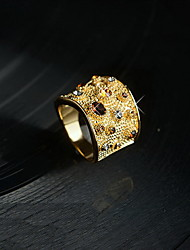 Ring Wedding Party Special Occasion Daily Casual Jewelry Gemstone & Crystal Alloy Ring 1pc,6 7 8 Yellow Gold