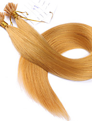 Fusion Hair Extensions Brazilian Remy Hair Straight 1Garm/Strand Keratin Hair Extension U Tip Pre Bonded Human Hair Color #144