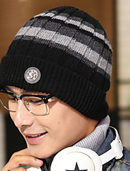 quelques hommes laine d'impression rayé sports de plein air en hiver, plus cachemire bonnet de ski à tricoter au chaud