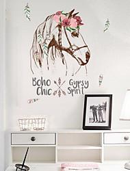 Cartoon Creative Horse Head Wall Sticker Vinyl Material Home Decoration