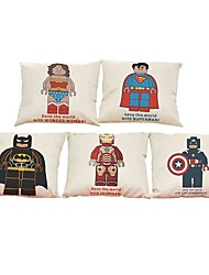 Set of 5 US captain pattern  Linen Pillowcase Sofa Home Decor Cushion Cover (18*18inch)