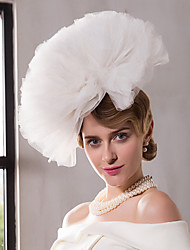 Net Headpiece-Wedding Special Occasion Outdoor Fascinators Hats 1 Piece