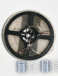 boîtier de 5m zdm étanche 0603 300pcs 24w blanc froid led strip lampe douce avec 20pcs silicone boucle (DC12V)