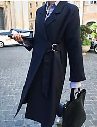 корея 2016 весной новый костюм колени воротник пальто длинный участок оригинальные кружева тонких секции