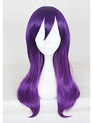 20Inches Medium Long Purple Watashi Ga Motete Dousunda Kae Serinuma Synthetic Anime Cosplay Wig CS-321A