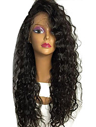 Deep Curly Lace Wigs Brazilian Lace Front Human Hair Wigs 150% Density 18 Inches Right Part Glueless Front Lace Virgin Human Hair Wigs For Black Women