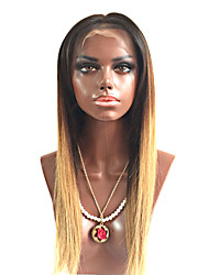 130% Density Full Lace Human Hair Wigs Silky Straight Hair Two Tone Ombre T1B/27# Brazilian Virgin Hair Full Lace Wigs For Black Woman