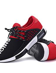 Herren-Sneaker-Outddor Lässig-PUKomfort-Schwarz Schwarz Blau Schwarz Rot
