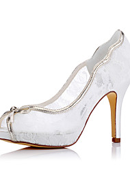 Women's / Fall Heels / Pointed Toe Silk Wedding / Party & Evening /