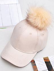 Women's Fashion Suede Solid  Faux Leather Baseball Cap Sun Hat Cute Casual Fall Winter