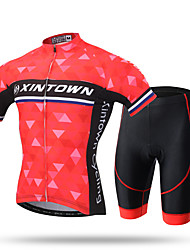 XINTOWN® Men Cycling Jersey 3D Gel Padded Shorts Biking Sportswear Breathable Quick Dry