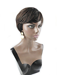 Machine Made Human Hair Short Hair Wig