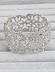 Bracelet Manchettes Bracelets Alliage Vintage Soirée Occasion spéciale Anniversaire Bijoux Cadeau Argent,1pc
