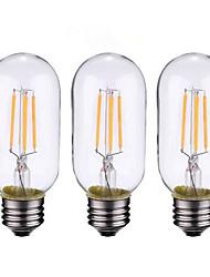 3PCS 4W B22/E27  LED Filament Bulbs T45 4COB 300 lm Warm White Dimmable AC 220-240 AC 110-130 V