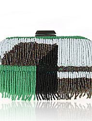 L.west Women's special Beaded Rosary with a retro hand bag