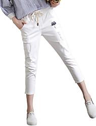 sign # 8033 brancos nove buracos de jeans personalidade feminina selvagens calças cintura elástica pés femininos na Primavera de 2017