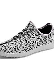 Men's Sneakers Summer Fall Light Up Shoes Comfort Fabric Casual Flat Heel