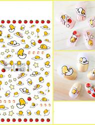 1pcs 3D Nail Stickers Lovely Cartoon QQ Penguin&Mr. Egg Yolk &Monster&Yellow Duck Nail Art Design Nail Art Sticker F061-069