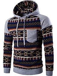 Sweatshirt Homme Décontracté / Quotidien Imprimé Col Arrondi Micro-élastique Coton Manches Longues Toutes les Saisons