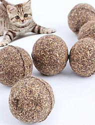 Juguete para Gato Juguete para Perro Juguetes para Mascotas Cat Nip Rompe Cabezas Duradero Madera Marrón