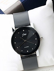 Masculino Relógio de Moda Simulado Diamante Relógio Quartzo Couro Banda Legal Casual Preta