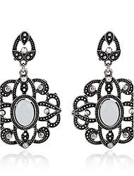 Diamond Opal Stud Earrings Drop Earrings Earrings Jewelry Women Couples Wedding Party Crystal Alloy Gem 1 pair Silver