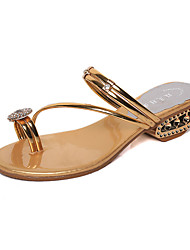 Women's Sandals Spring Summer Comfort PU Dress Casual Low Heel Others Gold Silver