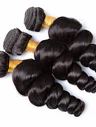 Tissages de cheveux humains Cheveux Brésiliens Ondulation Lâche 12 mois 3 Pièces tissages de cheveux