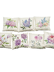 Set of 7  A variety of flowers pattern Linen Pillowcase Sofa Home Decor Cushion Cover